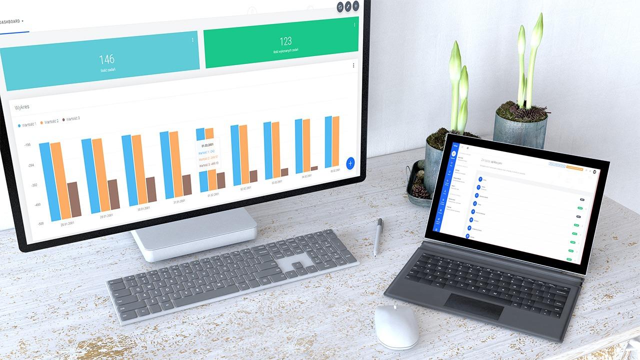VAIAP prezentacja systemu na dwóch monitorach