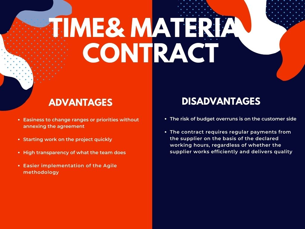 Time & material contract